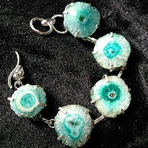 Jewelry - Agate Geode & Silver Bracelet